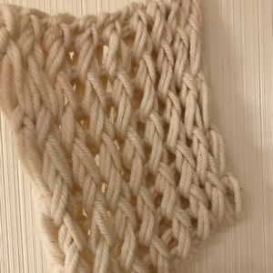 Homemade large knit scarf
